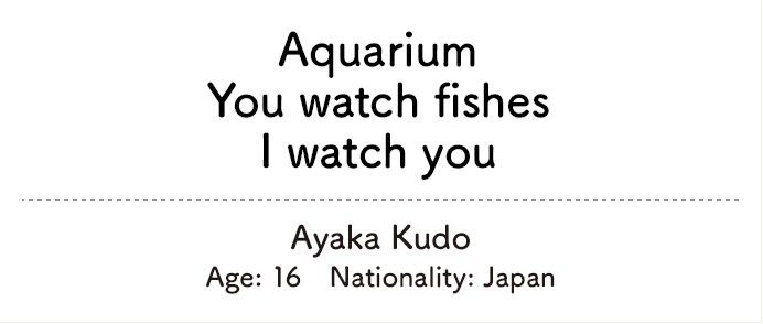 Aquarium You watch fishes I watch you